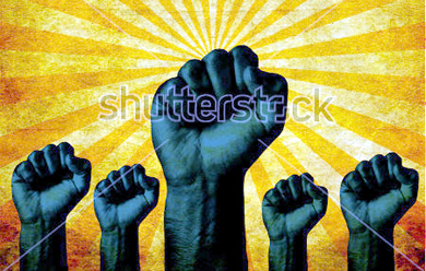 stock-photo-group-of-clenched-fist-raised-in-air-with-bright-sun-burst-grunge-background-victory-revolt-117501220