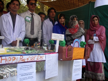 Pharmacy day organizers at University of Balochistan